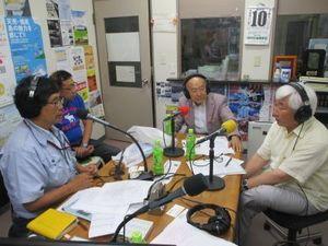 7月10日放送のスタジオの様子の写真