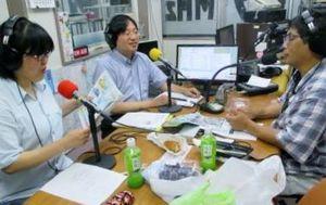 8月12日放送時のスタジオの写真